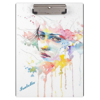 Watercolor Women Clipboard