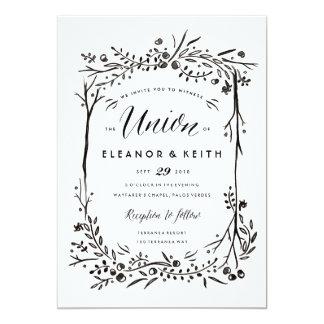 Watercolor Woodland Wedding Invitation - Union
