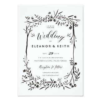 Watercolor Woodland Wedding Invitation Update