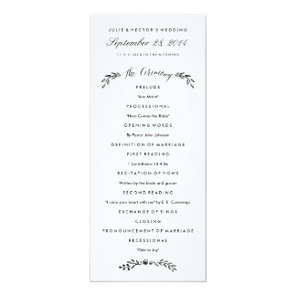 Watercolor Woodland Wedding Program - Updated