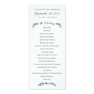 Watercolor Woodland Wedding Program - Updated 10 Cm X 24 Cm Invitation Card