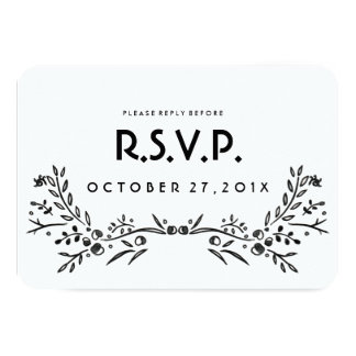 Watercolor Woodland Wedding RSVP Card
