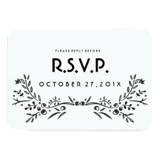 Watercolor Woodland Wedding RSVP Card 9 Cm X 13 Cm Invitation Card