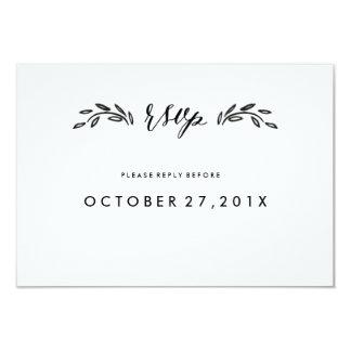 Watercolor Woodland Wedding Simplified RSVP Card 9 Cm X 13 Cm Invitation Card