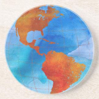 Watercolor World Coasters