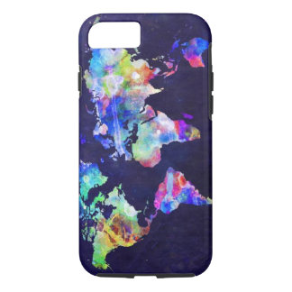 Watercolor World Map iPhone 7/8 case