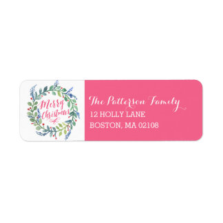 Watercolor Wreath Collection Return Address Label