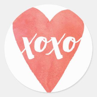 Watercolor XOXO Valentine's Day Sticker
