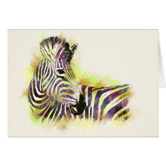 Watercolor Zebra Card
