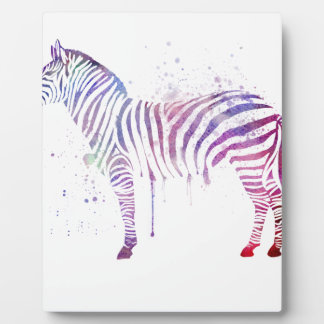Watercolor Zebra Plaque