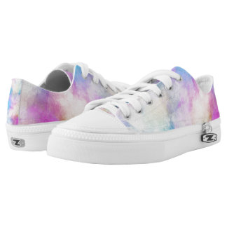 Watercolor Zipz Women's Low Top Shoes USA