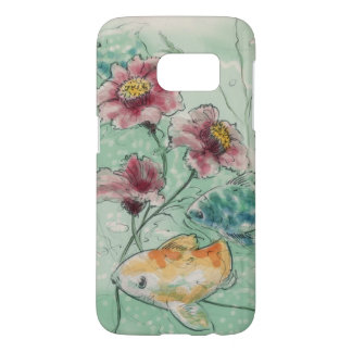 watercolored flowers and fishes 3