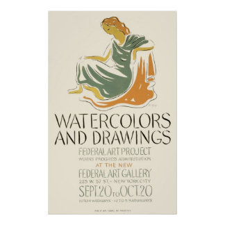 Watercolors and Drawings Poster