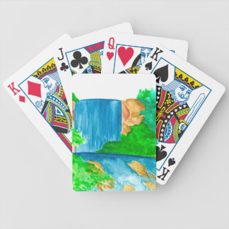 Watercolors and Waterfalls Bicycle Playing Cards