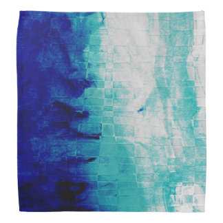 Watercolors Blue Gradient Bandana