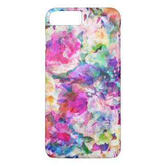 Watercolors Colorful Flowers Collage iPhone 7 Plus Case