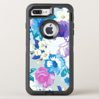 Watercolors Colorful Summer Flowers Pattern OtterBox Defender iPhone 8 Plus/7 Plus Case