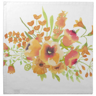 Watercolors flowers napkin