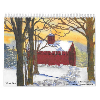 Watercolors of New England 2017 Calendar-Meserve Wall Calendar