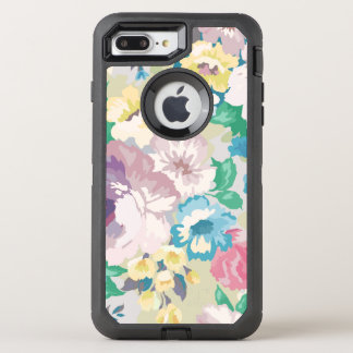 Watercolors Summer Flowers Colorful Illustration OtterBox Defender iPhone 8 Plus/7 Plus Case