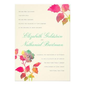 Watercolors Wedding Invitation