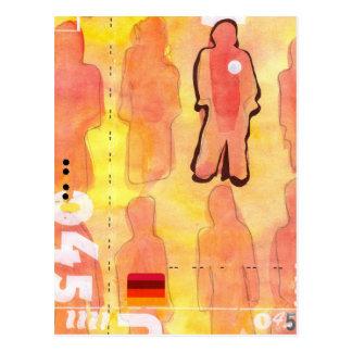 Watercolour Art : Alpha 045 Postcard