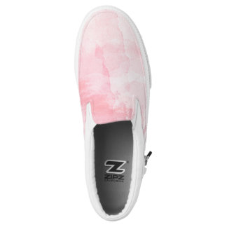 Watercolour art slip on shoes