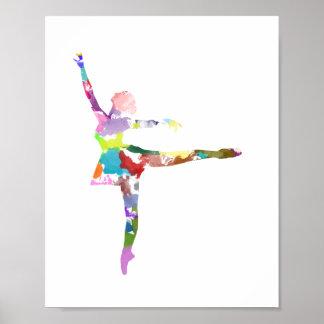 Watercolour Ballerina Poster