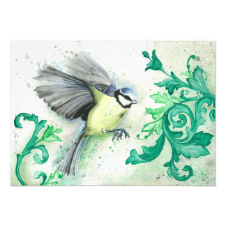 Watercolour bird painting, art print