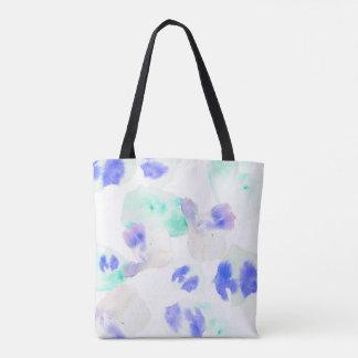 Watercolour Bloom Aqua Tote Bag