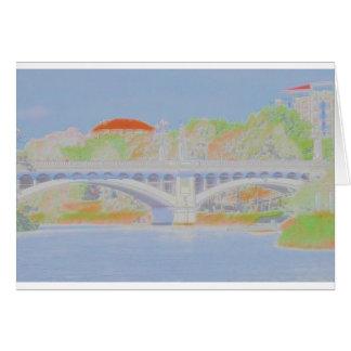 Watercolour Bridge Card