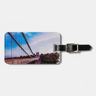 Watercolour Bridge Luggage Tag