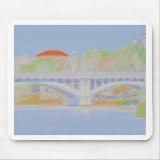 Watercolour Bridge Mouse Pad
