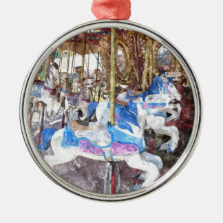Watercolour Carousel Silver-Colored Round Decoration