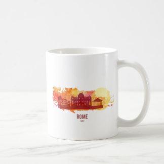 Watercolour cities: Rome Basic White Mug