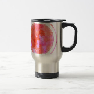 watercolour design circle design round mark travel mug