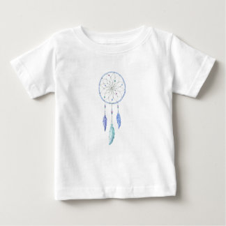 Watercolour Dreamcatcher with 3 Feathers Baby T-Shirt