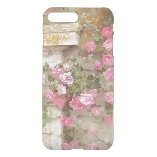 Watercolour Effect Pink Climbing Rose iPhone 7 Plus Case