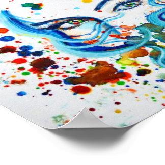Watercolour eye print