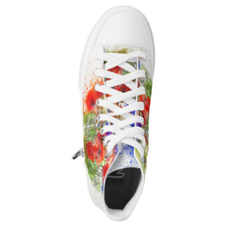 Watercolour Floral Bouquet design High Tops