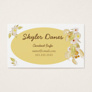 Watercolour Floral Business Card