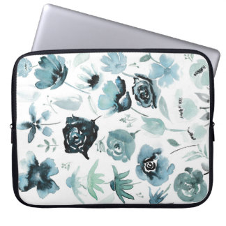 Watercolour floral design computer sleeves