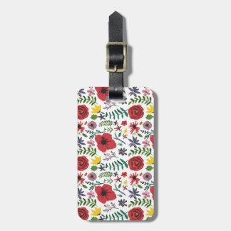 Watercolour Floral Pattern Bag Tag
