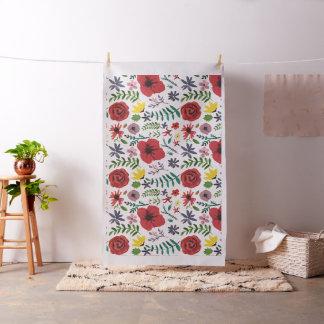 Watercolour Florals Design Fabric
