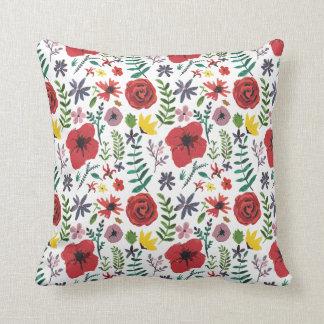 Watercolour Florals Design Throw Pillow