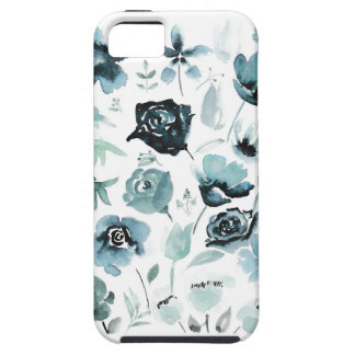 Watercolour florals in blue case for the iPhone 5