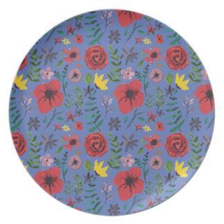 Watercolour Florals Party Plates