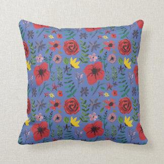 Watercolour Florals Throw Pillow