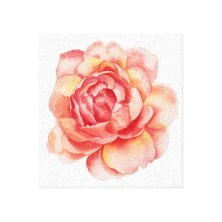 Watercolour Flower canvas
