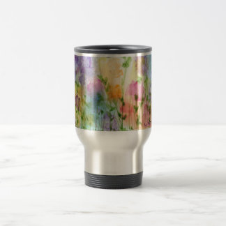 Watercolour Flower Travel Mug